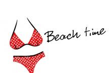 Na plażę / Moda plażowa, stroje kąpielowe jedno i dwuczęściowe.