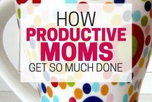 ! Productivity for Moms ! / Productivity tips for moms. Time management hacks. How to get things done. Make the most of your time!