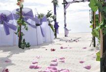 A Purple Beach Wedding / Big Day Weddings, Alabama Beach Weddings, Florida Beach Weddings, Gulf Shores Beach Weddings