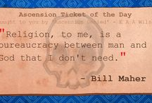 Ascension Tickets / Daily quotes from daily people  Artwork by: Danielle Beebe - www.mariebeebe.com Wordwork by: Various