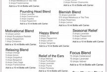 essential oil rollerball blends/perfumes