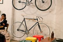 Design: Bike + Home / Our bike is one of very most prized possessions and sometimes we just want to keep it on display for all to see. These are some of our favorite spaces that bikes live in.