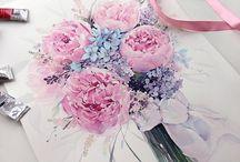 Watercolor flowery