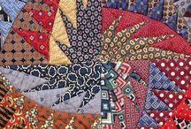 Kravatlardan patchwork pano