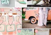 Coral and mint wedding
