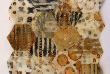 rust dyed fabrics