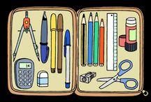 French - Vocab (School Supplies) / by Jenn Campanella