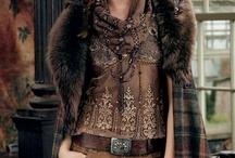 Leather/Plaid/Wool