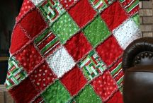 Christmas quilts, place mats, table runners, etc