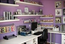 Craft Spaces and Organization / Craft rooms and how to organize the things inside them