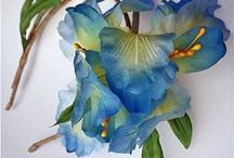 Цветы из шелка -silk flowers