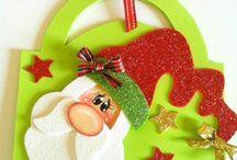 Lembrancinhas natal EVA