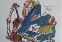 La musique / Albums, livres-cd, documentaires sur la musique, les instruments, comptines et chansons