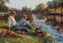 fishing painting03_рыбалка в живописи / fishing painting_рыбалка в живописи картины о рыбалке