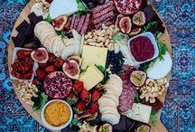 Snacks in a platter