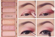 trucco  occhi naked rosa