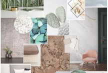 SS18 Trend: Serenity / A fresh colour scheme of natural tones and jade, blues and mint, this serene homeware trend for Spring Summer 2018, mixes textures and natural surfaces with copper and gold accents.
