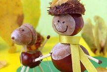 Jesień, autumn , chestnuts / autumn , chestnuts