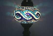 Tabletop Turkish Mosaic Lamps / Handmade Turkish Mosaic Lighting