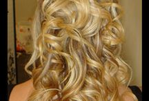 Half up with curls