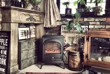 Fireplace & Wood stove / 暖炉 & 薪ストーブ