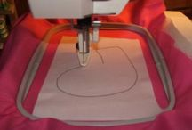 Machine embroidery appliqué & hoop uses