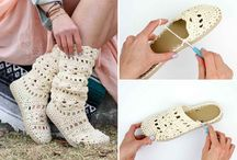 crochet shoes and sandals