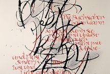 skrift kaligrafi