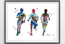 Sport Art By MimiPrints