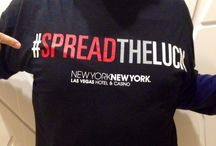 "New York-New York ""Spreads the Luck"" / New York–New York #SPREADTHELUCK to the first ever Southwest Airlines nonstop flight from Dallas to Las Vegas by making it the luckiest flight in the fleet…live at 35,000 feet. http://youtu.be/rZ44E8emMdE"