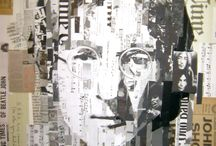Portrait / Paper art, grafics or watercolor...