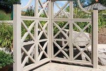Fences & gates & retaining walls. / All fences & gates are not created equal! / by Irene Hertel