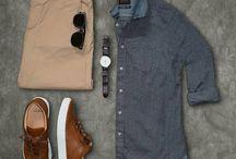 Combinación de moda hombre