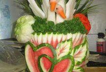 украшение фруктов и овощей