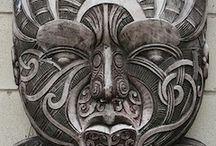 Maori wood carving and Ta Moko