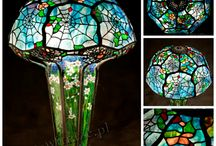 Louis Comfort Tiffany lamps / Stained glass lamps generated by Wieniawa-Piasecki Workshop, inspired by L.C. Tiffany creations. Every lamp is handcrafted, what makes it unique.