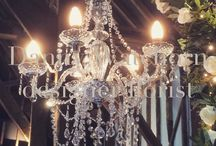 Sparkle and shine / Our beautiful new chandeleir's and also we have a new cream runner to go along the aisle.
