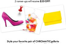 Style it. Pin it. Win it.  / by CHROMATICgallerie