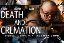 """Death And Cremation (Movie) / (Short Synopsis) """"In suburban Crest Point, Stan is an odd recluse who offers cremation services from the basement of his funeral home. Jarod, a high school outcast, is his protégé. But all is not as it seems …"""" (Starring) Brad Dourif (The Lord of the Rings: The Two Towers, Child's Play), Jeremy Sumpter (Peter Pan, Frailty), Scott Elrod (The Switch), Daniel Baldwin (Vampires, Born on the Fourth of July), Sam Ingraffia (Wallstreet), Madison Eginton (Eyes Wide Shut). / by Green Apple Entertainment"""
