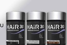 HAIR30 / HAIR 30 : l'effet cheveu retrouvé en 30 secondes : http://www.hairstore.fr/hair30.htm  Hair30, la poudre pour cheveux clairsemés revolutionnaire et innovante, à la technologie micro fibres unique. Composé de microfibres, il contient les mêmes protéines organiques (Kératine) que vos cheveux. C'est pourquoi ils fusionnent si efficacement… en toute discrétion !  En 30 secondes seulement, et Instantanément, Hair30 : - Masque la calvitie - Dissimule Cicatrices, plaques... - Dissimule les racines entre 2 colorations - Densifie la chevelure Le tout sans risque pour le cheveu ou le cuir chevelu : Produit 100% naturel à la Kératine