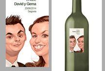 de etiqueta / Diseños de etiquetas. Etiquetas con caricatura Label Designs. Caricature labels  #labels, #caricatures #wedding #weddingcaricature #caricaturaboda #caricaturanovios #etiquetacaricatura #etiquetarecuerdo
