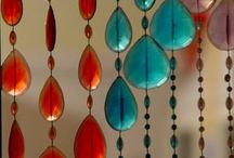 Curtains and beads doors