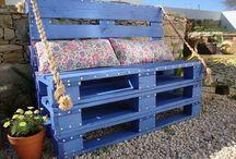 Muebles de jardín con pales