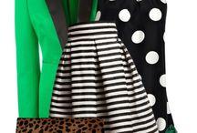 Prúžkovaná sukňa