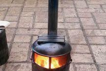 Log burners / Upcycled gas bottle