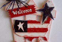 Americana / All things red white and blue. Decor, DIY, 4th of July, Memorial Day and the like