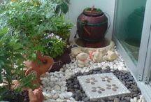 záhrady a sedeníčka
