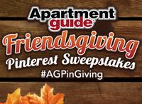 "How to Decorate for Friendsgiving (Nov. 15-21) / Design a stand-out space that sets the standard for all future Friendsgivings! Here's how to enter: 1) Follow Apartment Guide on Pinterest 2) Create ""Friendsgiving"" themed boards with at least 10 pins, including 2 from apartmentguide.com/blog 3) Write a brief description using #AGPinGiving 4) Submit your board URL to consumersourcerequests@mslgroup.com with your contact information. Good luck and Happy Friendsgiving! / by Apartment Guide"