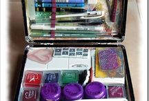Art journaling ideas / Ideas for journaling and portable journaling supplies