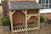 garden wood storage